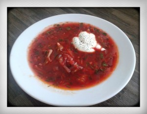 Authentic Traditional Russian Borscht soup recipe