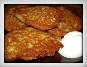 Russian food breakfast recipe draniki savoury Belarusian potato pancakes