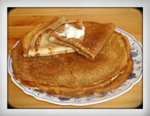 Russian pancakes blini