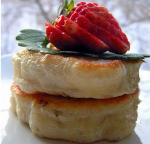 Russian pancakes oladi