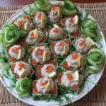 Herring butter savoury party food spread Russian finger food