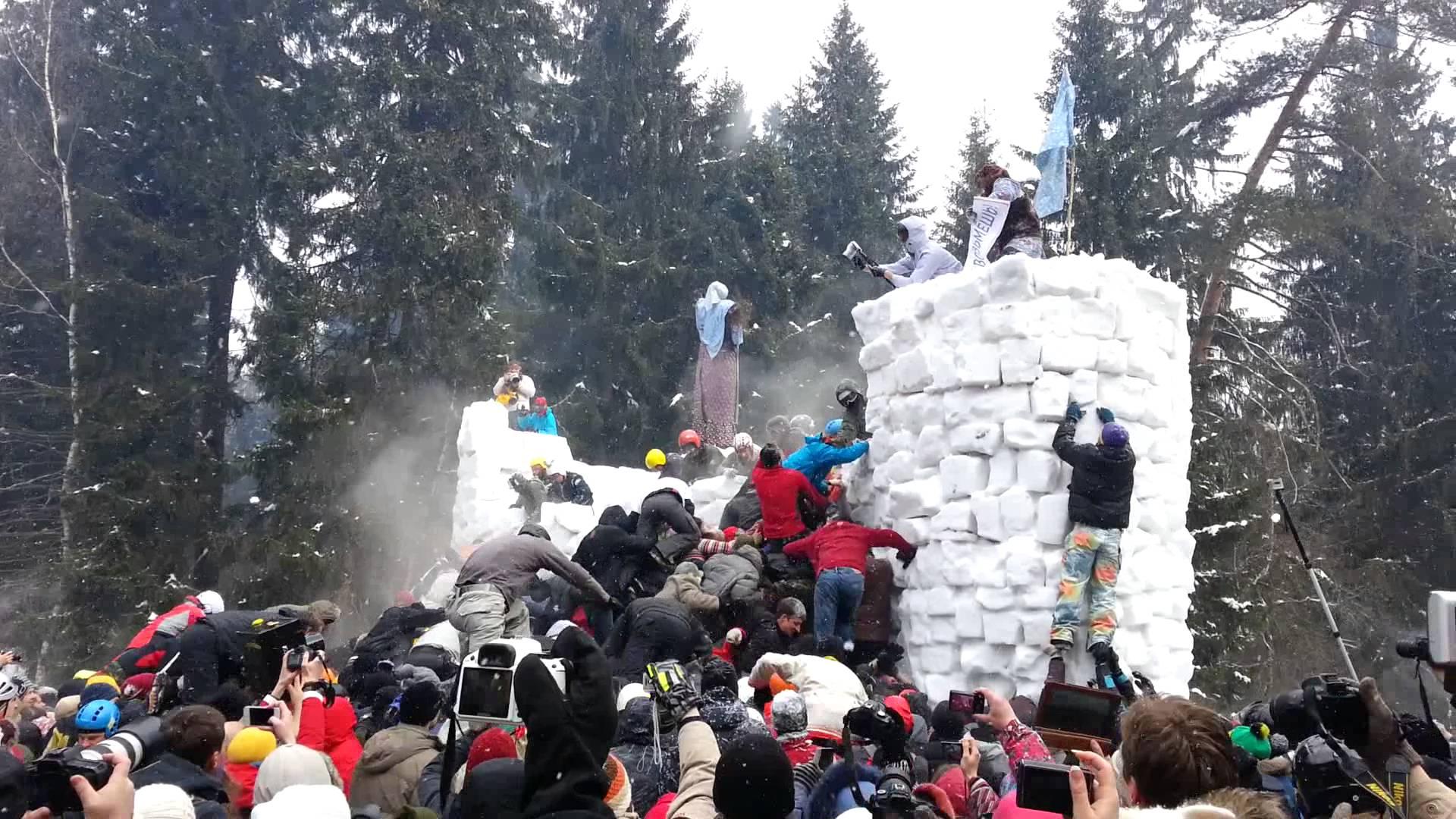 Snow town siege (modern)